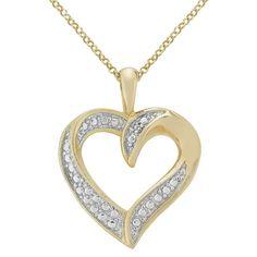 Diamond Accent Heart Pendant in Rose Gold Plated Brass Gender: Female. Diamond Accent Heart Pendant in Rose Gold Plated Brass Women's Cool Necklaces, Beautiful Necklaces, Jewelry Necklaces, Diamond Color Grade, Gold Plated Necklace, Heart Earrings, Rose Gold Plates, Colored Diamonds, Diamond Cuts