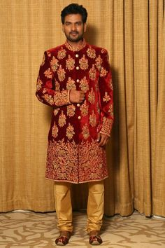 Wedding Dresses Men Indian, Wedding Dress Men, Wedding Men, Wedding Suits, Indian Dresses, Wedding Groom, Mens Sherwani, Wedding Sherwani, Mens Suits Online