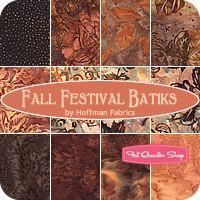 Fall Festival Batiks Fat Quarter Bundle Hoffman Fabrics