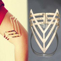 Now available!! Punk Triple Cut O... Check it out!! http://shopgeekfreak.com/products/punk-triple-cut-out-triangle-upper-arm-cuff?utm_campaign=social_autopilot&utm_source=pin&utm_medium=pin #geek #shopgeekfreak - Think Geek? Shop Geek Freak!