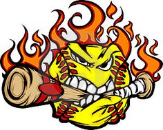 Softball Bat On Fire