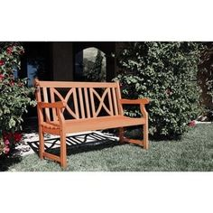 Shop for Softcross 4-foot Eucalyptus Wood Outdoor Garden Bench. Get free shipping at Overstock.com - Your Online Garden & Patio Outlet Store! Get 5% in rewards with Club O! - 14162506