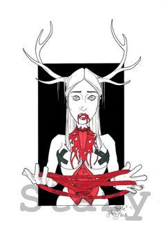COLOMBIAN NECKTIE by Stazÿ http://stazyllustration.blogspot.fr/ https://www.facebook.com/gc.stazy