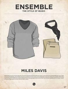 Musique, affiches minimalistes et vêtements vetements habits musique poster affiche minimaliste 15 design