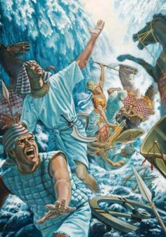 The Ancient Hebrew's Mythological tale of Pharoah's Army and The Red Sea--Exodus 15:4