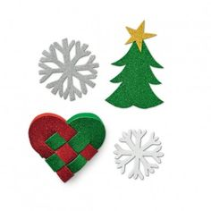 Make your own Christmas decorations for your home or for cards with this glittering foam that comes in green, purple, gold, white and red.