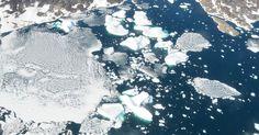 Gelo que não é eterno. Dois artigos publicados na revista Nature analisam o degelo da Groenlândia, que pode levar ao aumento do nível dos oceanos numa das consequências do aquecimento global. Entender esse comportamento em períodos quentes do passado pode ajudar a  prever o que vem pela frente. Os estudos apontam como a alteração do gelo no local se comportou ao longo dos anos.  Fotografia: Paul Bierman.  /ciencia/album/2016/12/01/veja-imagens-de-ciencia-do-mes-dezembro2016.htm#fotoNav=6
