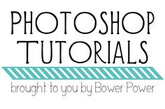 Photoshop Tutorial – Making a Watermark Action | Bower Power