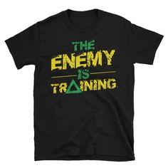 The Enemy is Training men's t-shirt - front and back print