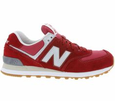 New Balance 574 Vintage ML574HRT sneakers trainers fashion seude leather red new #NewBalance #RunningCrossTraining