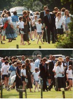 WILLIAM &  HARRY SCHOOL DAY à  LUDGROVE SCHOOL,le 21 Juin 1993