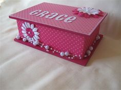 Beautiful hand crafted trinket boxes for special little girls