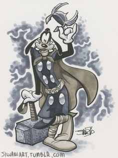 Goofy as Thor by James Silvani