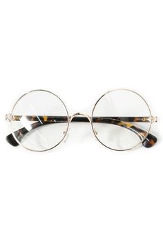 Vintage Retro Round Glasses Frame - love these too =D Harry Potter shape, Holly Golightly Tortoise Shell