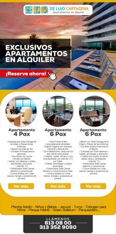 #Novoclick esta con #DeLujoCartagena y sus exclusivos apartamentos en alquiler.