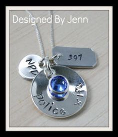 police wife necklace (firefighter too)