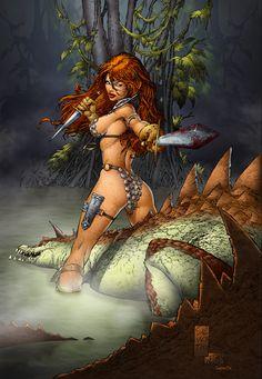 Red Sonja - Silvestri by SeanE on deviantART