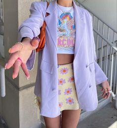 Aesthetic Fashion, Look Fashion, Aesthetic Clothes, Spring Fashion, Mode Purple, Purple Yellow, Mode Outfits, Fashion Outfits, Fashion Ideas