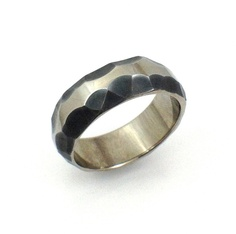 #Titanium #Textured #Ring #Men's #Environmentally #Responsible #Green #Jewelry
