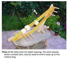 Otfried Staudigel's table tablet weaving loom (from TWIST issue Spring 2015)