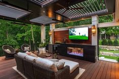 47 Most Amazing Pergola Design Ideas For Summer Living Louvered Pergola, Wood Pergola, Retractable Pergola, Pergola Patio, Commercial Interior Design, Commercial Interiors, Outdoor Dining, Outdoor Decor, Outdoor Pavilion