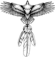 Dream Catcher tattoo design by Catherine-OC Best Tattoos For Women, Sleeve Tattoos For Women, Trendy Tattoos, Tattoos For Guys, Cool Tattoos, Native Tattoos, Eagle Tattoos, Arrow Tattoos, Eagle Chest Tattoo