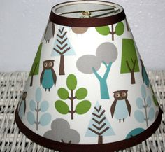 Lampshade made w Dwell Studios Owl Baby fabric