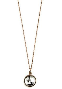 The More You Crow Necklace 41.99, #ModCloth