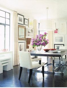 Love the mix of modern, light colors & whimsy vintage