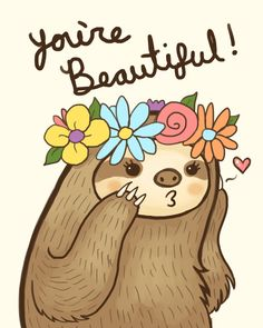 "kteacrumpet: "" In case anyone needed a reminder today. Baby Sloth, Cute Sloth, Family Quotes Love, Baby Animals, Cute Animals, Dibujos Cute, My Spirit Animal, Cute Drawings, Cute Pictures"