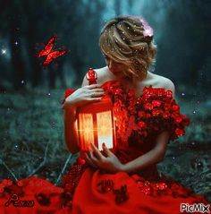 The red butterfly frances Beautiful Photos Of Nature, Beautiful Gif, Beautiful Girl Image, Beau Gif, Butterfly Gif, Dibujos Tumblr A Color, Deep Photos, Love You Gif, Red Images