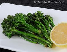 For the Love of Cooking » Lemon and Garlic Broccolini
