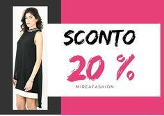 sconto 20% senza limiti: www.mireafashion.it