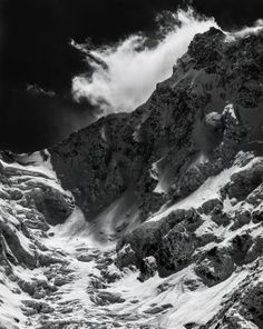 Monte Rosa (4634 m) - Wind storm on the east face - From Belvedere Glacier - Macugnaga - Italy