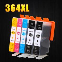5 Pack 364XL Cartouche D'encre de Remplacement pour HP 364 xl cartouches rechargeables pour Deskjet 3070A 5510 6510 B209a C510a C309a imprimante