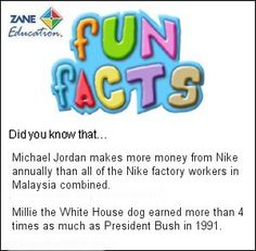 Fun Facts 103 from Zane Education at http://www.zaneeducation.com
