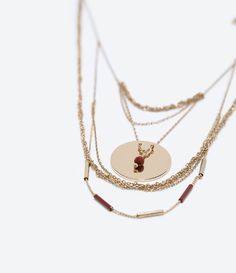 ZARA - WOMAN - CHAIN AND PLAQUE NECKLACE