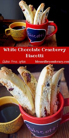 White Chocolate Cranberry Biscotti (GF option)