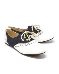 119183f09a B.A.I.T. Footwear Emmie Glitter Saddle Shoes Saddle Shoes