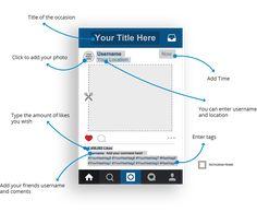 Instagram frame template, instagram photo booth