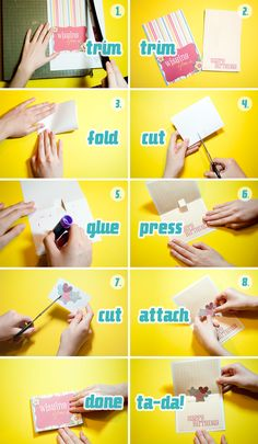 How To Make A Pop-Up Card - Click for larger!