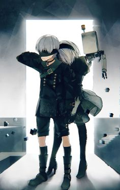 9S is actually the same size as 2B, but she has high heels
