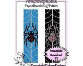 Arachnophobia - Beaded Peyote Bracelet Cuff Pattern