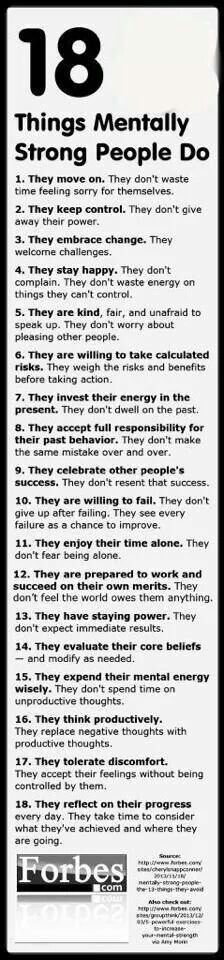Things mentally strong people do...