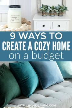 Cozy home ideas for when you're on a budget! – cozy home warm City Farmhouse, Farmhouse Homes, Frugal Family, Frugal Living Tips, Best Money Saving Tips, Saving Money, Money Tips, Christian Homemaking, Candle Store