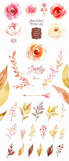 50%OFF! Lovely Flowers collection. by OctopusArtis on @creativemarket