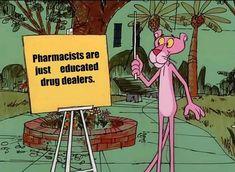 Pink panther is meta - memes Stupid Funny Memes, Funny Relatable Memes, Funny Posts, Funny Stuff, Random Stuff, Funny Cute, Really Funny, Dankest Memes, Jokes