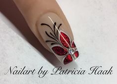 Red Flower Nail