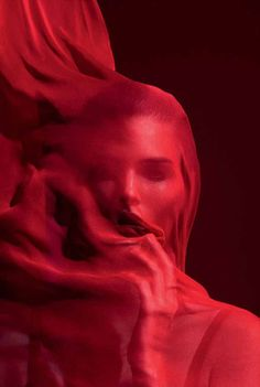 Vanessa Moody by Camilla Akrans for Vogue #veiled #red