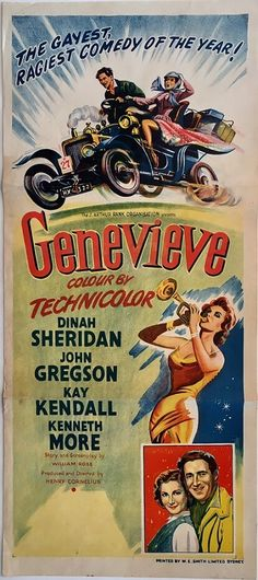 Genevieve original Australian Daybill poster. Available to purchase from our website.